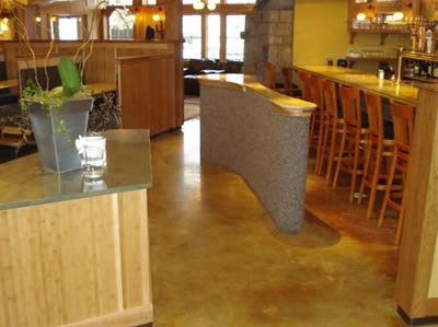Restaurant, Stained Site Concrete Effects North Berwick, ME