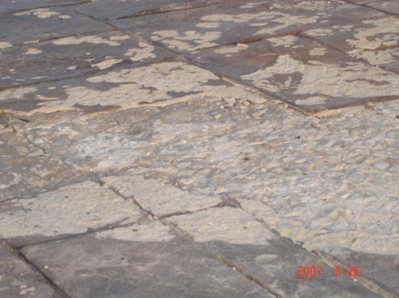 Cracked Amp Spalled Stamped Concrete The Concrete Network