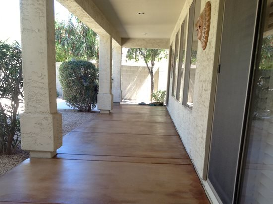 Stained Concrete Patio V Stained Concrete Scottsdale, AZ