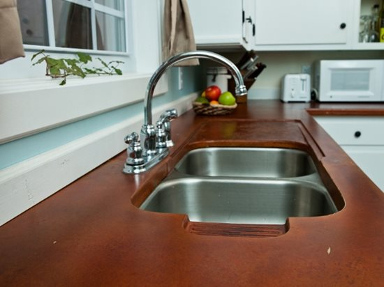 Stainless Steel Sink Site Reformed Concrete LLC Quarryville, PA
