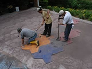 stamping mixes- concrete mix design for stamped concrete - the ... - Stamped Patio Designs