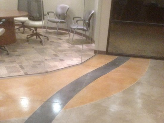 Three Color Floor, Stained Floor Site V Stained Concrete Scottsdale, AZ