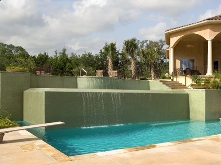 Tiles, Concrete Pool Deck Site Land Design Texas Boerne, TX