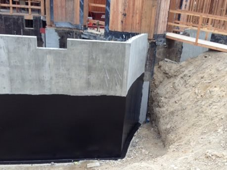 Waterproofing for concrete foundations the concrete network for Building a basement foundation