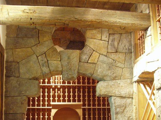 Handcarved Concrete, Concrete Wine Cellar Vertical Stamping VerticalArtisans.com Hickory Hills, IL