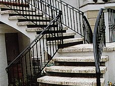 Stairs, Staircase Architectural Details Patterned Concrete of Illinois Geneva, IL