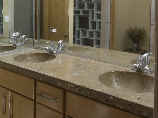 Grey, Marble Concrete Countertops Everlast Concrete, Inc Steger, IL