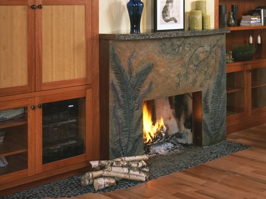 Concrete Fireplace Surrounds Tips For Designing And