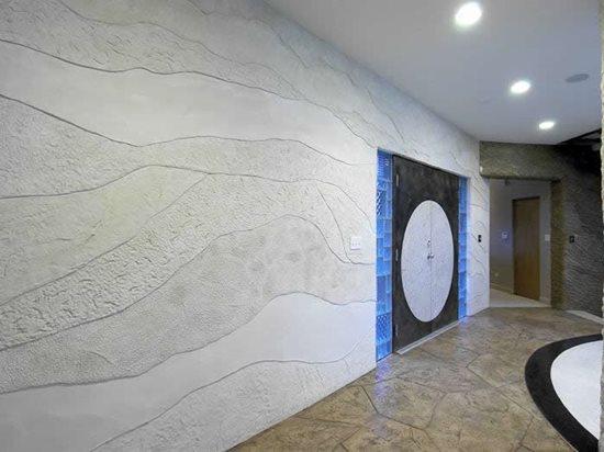 Rock Layers, Grey Interior Walls Everlast Concrete, Inc Steger, IL
