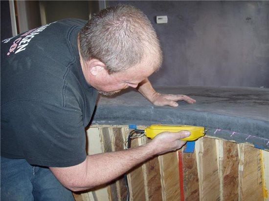 Casting An S Shaped Concrete Countertop The Concrete Network