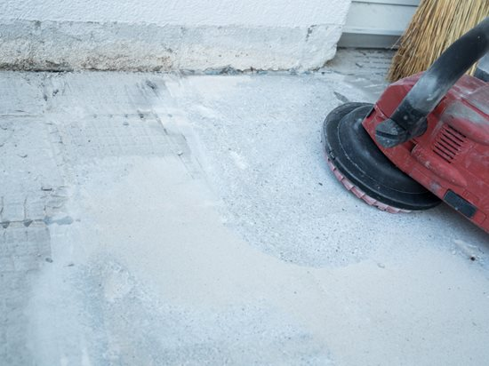 removing tile glue from concrete