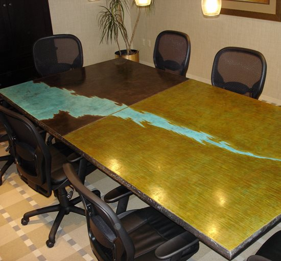 Concrete Office Furniture Conference Tables Desks The Concrete - Stained concrete table