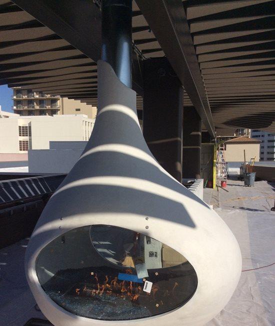 Custom Fire Pit, Modern Site DC Custom Concrete San Diego, CA