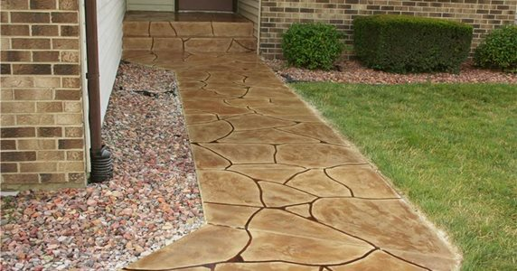 Overlay, Flagstone Stamped Concrete Special Effex Loves Park, IL