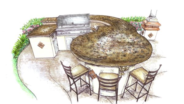 Outdoor Kitchen Countertop Shapes and Layout Configurations - The ...
