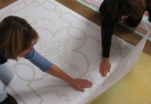 Tips For Stenciling Concrete Floors Site Modello Designs Chula Vista, CA