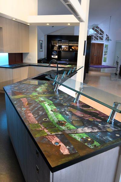 Artistic Concrete Counter Artistic Concrete SunWorks Decorative Concrete LLC Annville, PA