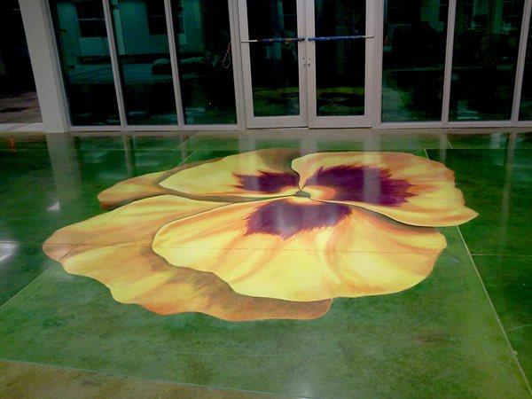 Concrete Art, Flower Floor Artistic Concrete Alternative Floors St Augustine, FL