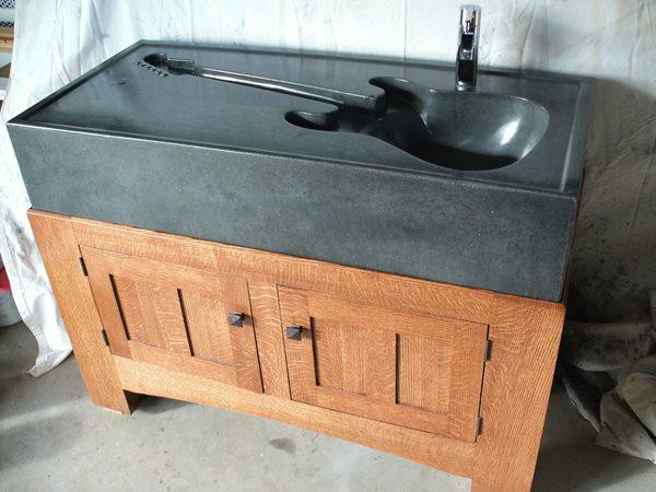 Guitar Sink Artistic Concrete Chris Havill Decorative Precast Concrete Port Williams, NS