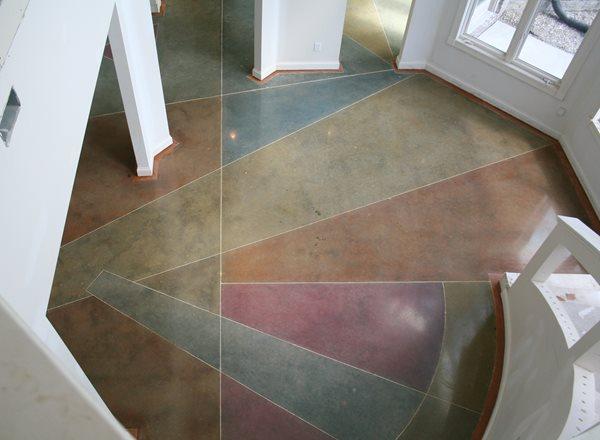 Polished Concrete Floor Artistic Concrete Artistic Surfaces Inc Indianapolis, IN