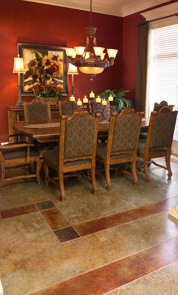 Border, Stone Brown Floors Kemiko Concrete Coatings & Floor Systems Whittier, CA