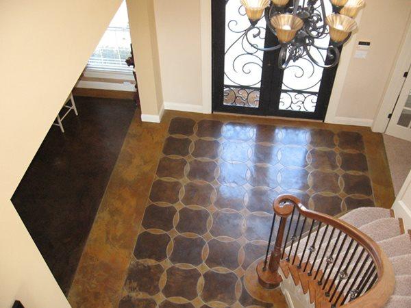 Brown, Foyer Brown Floors Moderncrete Austin, TX