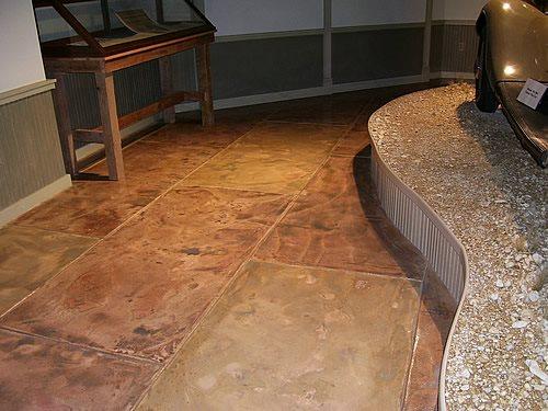 Brown Floors Commercial Concrete - South Texas Bomanite San Antonio, TX