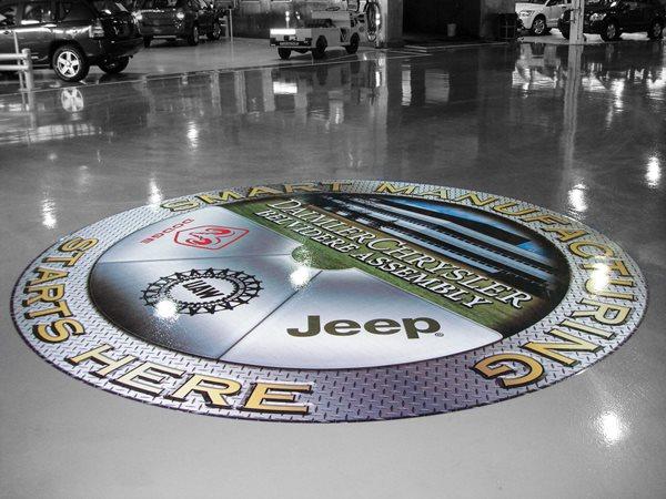 Automobile Manufacturing, Floor Logo Commercial Floors FloorPix by Agio Imaging Portage, MI