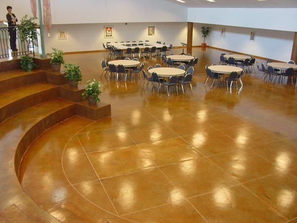 Banquet Hall, Stained Commercial Floors Concrete Cosmetics Crowley, TX