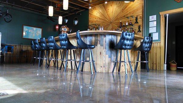 Bar Flooring, Polished Concrete Commercial Floors Perfection Plus Inc. Kernersville, NC