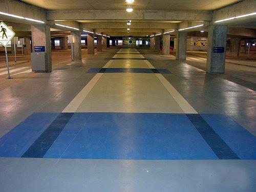 Blue, Walkway Commercial Floors Concrete Cosmetics Crowley, TX