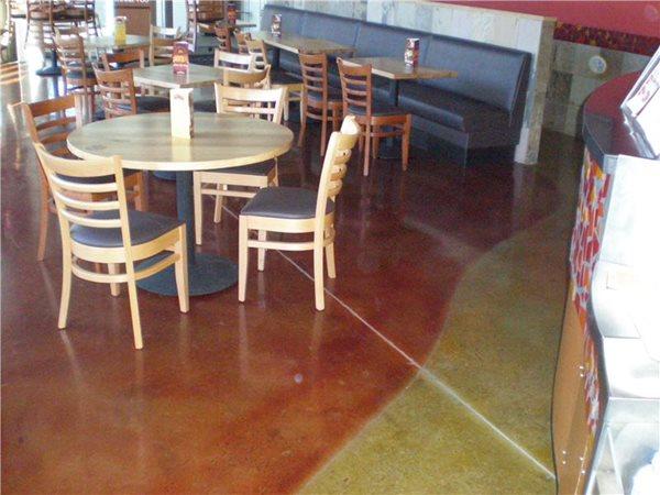 Colored Concrete Floor, Florida Concrete Commercial Floors Concrete -N- Counters Lutz, FL
