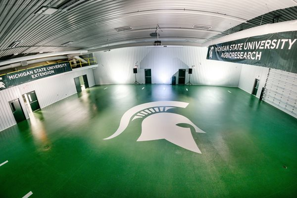 Green Floor, Spartans Logo Commercial Floors Protective Coatings Epoxy Systems Fowlerville, MI