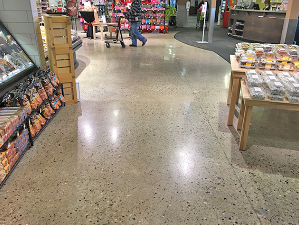 Grocery Store, Polished Concrete Commercial Floors Decorative Concrete Work Inc Staten Island, NY