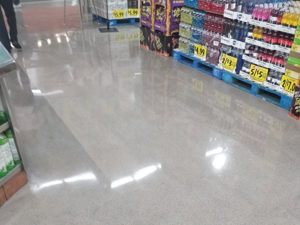 Grocery Store, Polished Floor Commercial Floors AAE Concrete Thousand Oaks, CA