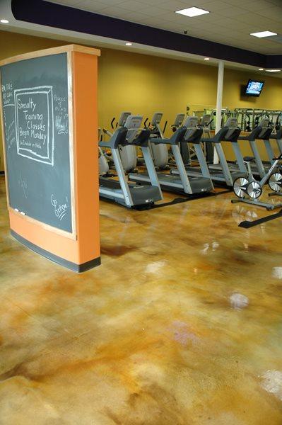 Gym Flooring Commercial Floors Custom Concrete Solutions, LLC West Hartford, CT