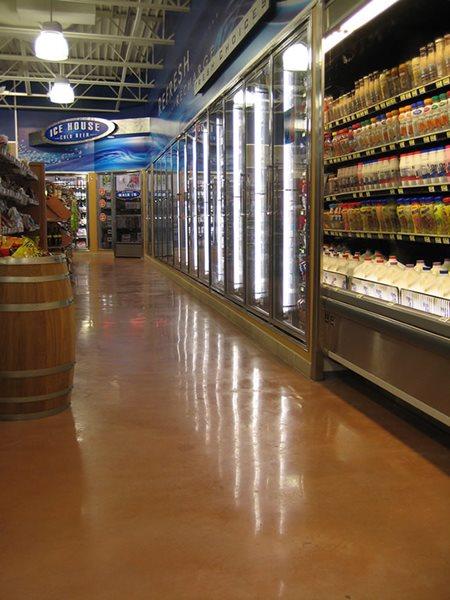 Market, Brown Commercial Floors Riverbed Concrete Boerne, TX