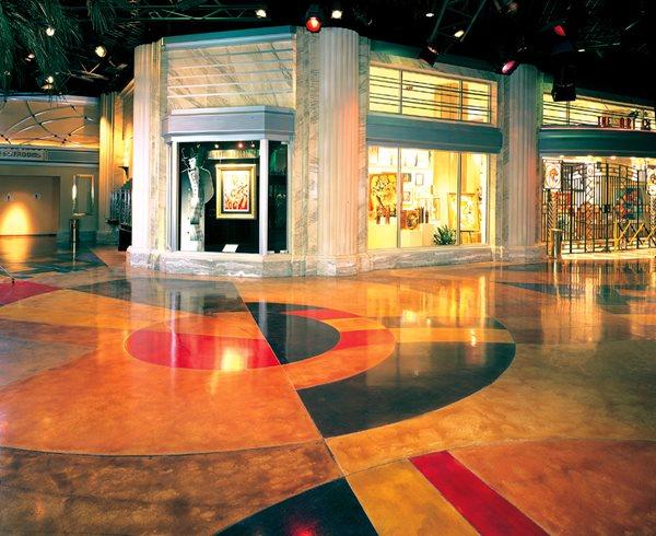 Multi Colored Commercial Floors Brickform Rialto, CA