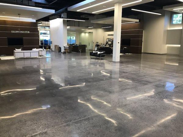 Polished Floor, Concrete Lobby Commercial Floors Infinity Concrete Coatings Newport Beach, CA