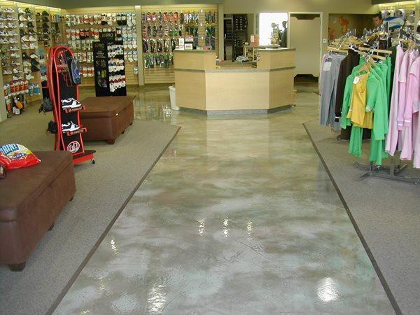 Polished Grey, Retail Floor Commercial Floors California Concrete Designs Anaheim, CA