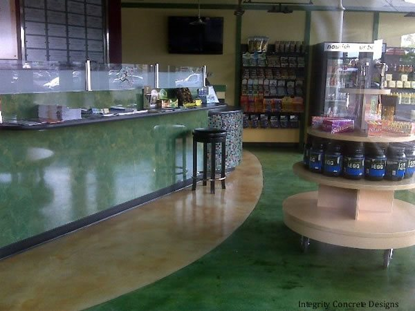 Stained Concrete Commercial Floors Integrity Concrete Designs Woodburn, OR