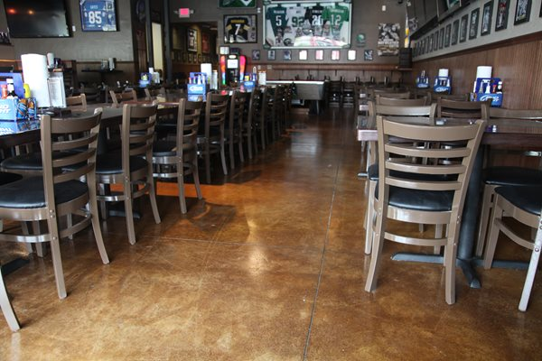 Stained Sports Bar Flooring Commercial Floors Classic Counters San Diego, CA