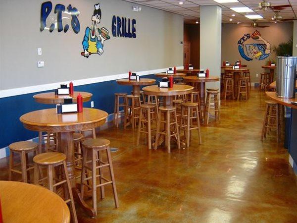 Terra Cotta Acid Stain, Restaurant Floor Commercial Floors Progressive Concrete Coatings Wilmington, NC
