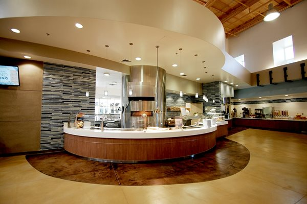 University Eatery, Stained Concrete Floors Commercial Floors Paul M. Wolff Company Lindon, UT