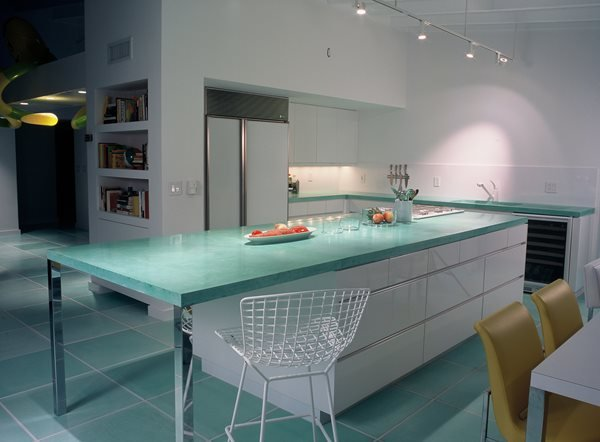 Aqua, Polished Concrete Countertops Art and Maison Inc. Miami, FL