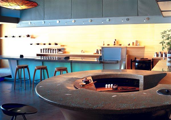 Asian, Circle Concrete Countertops Cheng Design Products Inc. Berkeley, CA