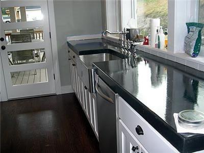 Black Dye Concrete Countertops Bickley Artisan Concrete Issaquah, WA