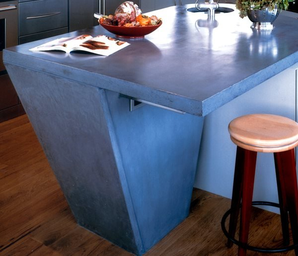 Blue, Veined Concrete Countertops Buddy Rhodes Concrete Products SF, CA