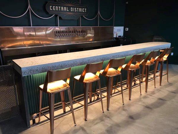 Brewery Bartop, Central District, Concrete Counter Concrete Countertops All Innovative Concrete Austin, TX