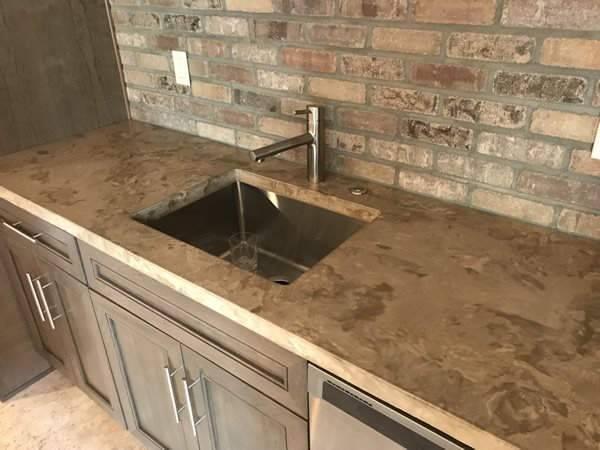 Brown Countertop, Mottled Countertop Concrete Countertops form2table Coraopolis, PA